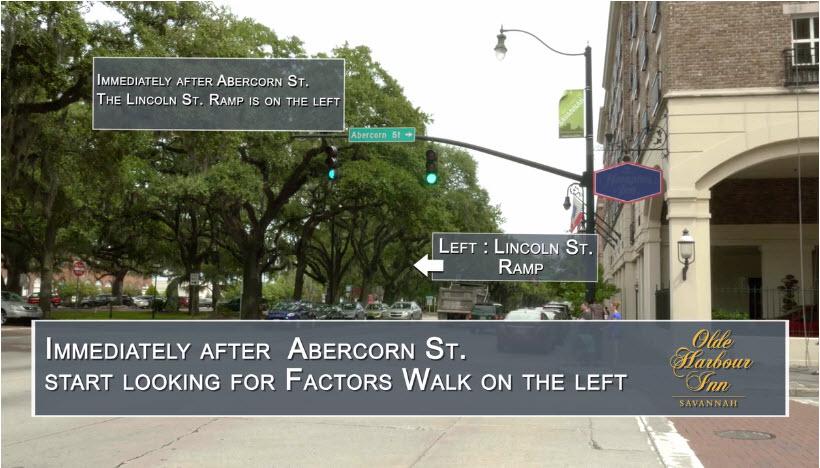 Directions to Olde Harbour Inn - Left on Lincoln Street