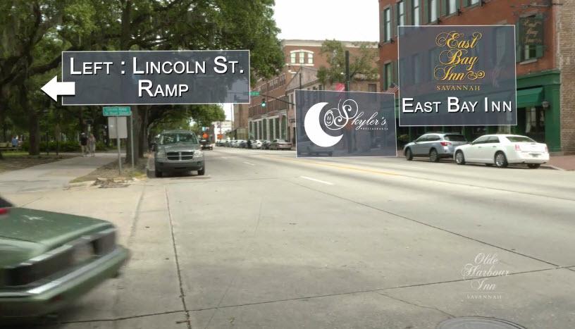 Directions to Olde Harbour Inn - Left on Lincoln Street Ramp