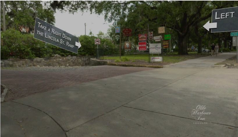 Directions to Olde Harbour Inn - Take a Right Down Lincoln Street Ramp