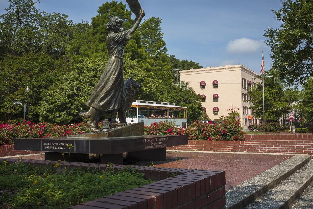 Historic Savannah Georgia's Waving Woman