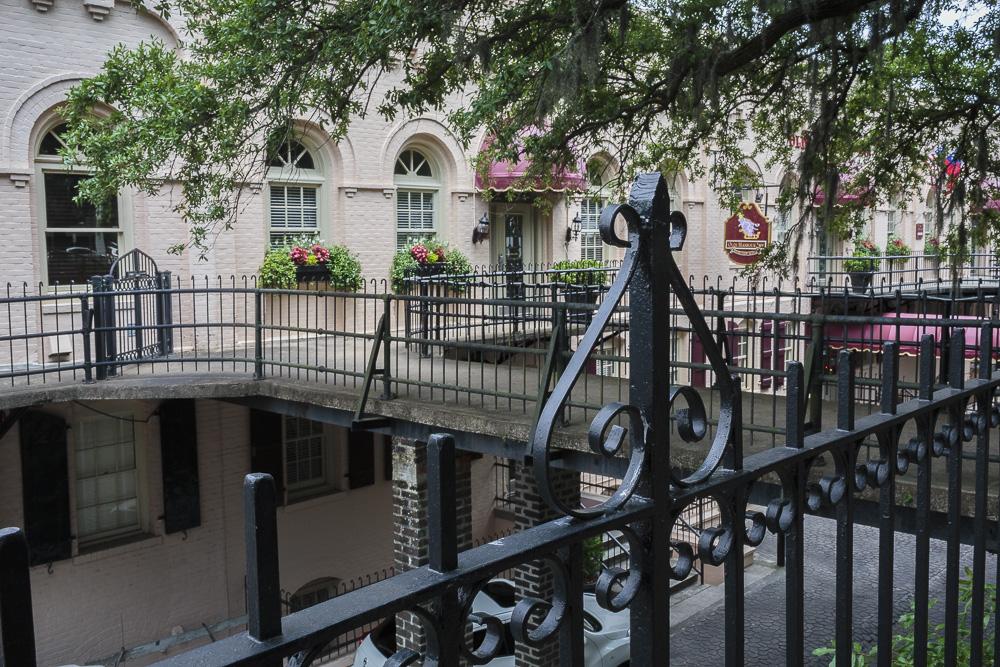 Walk-around Balcony in Historic Savannah Georgia