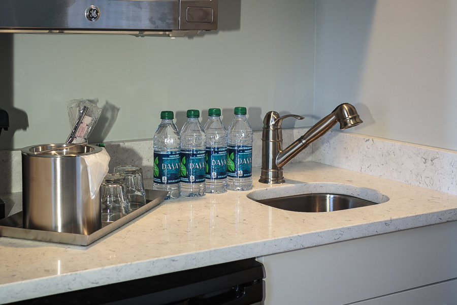 Complimentary bottled water in your room